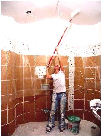 Jak Pomalować Sufit W łazience Naprawa Mieszkania Własnymi