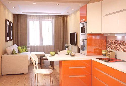 Połączony Salon Z Kuchnią 16 Kwadratów Pomysły Projektowe