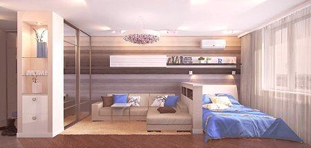 Projekt Pokoju 17 M² M M Sypialnia Salon Pomysły I