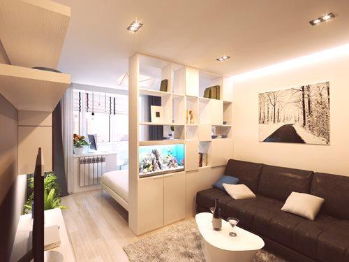 Wnętrze Pokoju Ma 17 M² M Sypialnia Salon Zdjęcie I 4