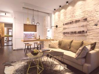 038df19b5e682 Hojnosť svetla a jeho príjem pomocou prístrojov neobvyklého tvaru - to je  ďalšia vlastnosť každej modernej obývacej izby.
