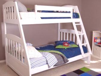 Drewniane łóżko Piętrowe 54 Zdjęcia Rama Z Litego Drewna