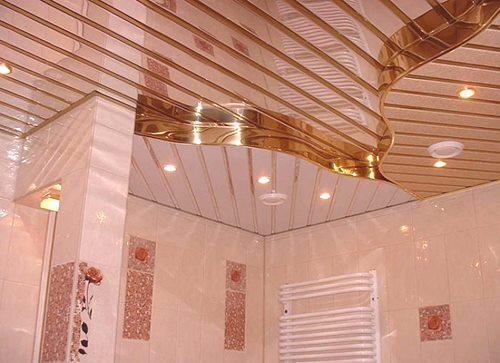 Sufit W łazience Wykonany Z Plastikowych Paneli Wybór I