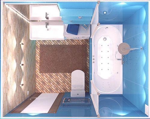 Projekt łazienki 5 M2 Zdjęcie Wykończonych Wnętrz I