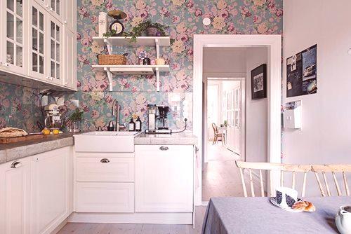 Jak Wybrać Tapetę Małej Kuchni W Chruszczow Zdjęcie